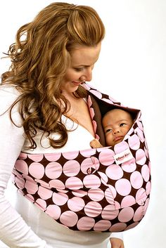 I love these types of baby carriers so much better than the car seat or stroller types.