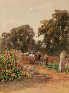 Rose Maynard Barton - Ploughing The Fields
