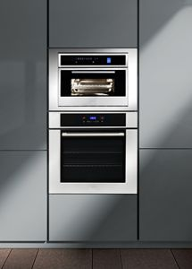 the bosch wall oven features a sideopening door for easier cavity access and a tft user interface nanoo kitchen pinterest wall ovens