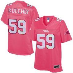 Women's Carolina Panthers Luke Kuechly Pro Line Pink Jersey