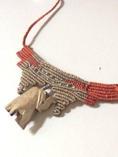 Elefant-Boho-schick Makramee-Halskette von zenboho auf Etsy                                                                                                                                                      Mehr