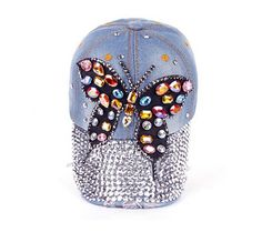 Ladies Denim Hat Jean Campagne Bling Cowboy Baseball Cap Denim Hat 3dfb08011bc8