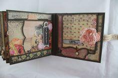 6x6 Romance Novel Scrapbook MiniAlbum PDF Tutorial by SoMuchScrap