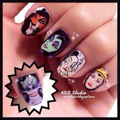 New pop art disney makeup Ideas Cute Nail Art, Cute Nails, Pretty Nails, Disney Inspired Nails, Disney Nails, Disney Makeup, Halloween Nail Designs, Halloween Nails, Secret Nails