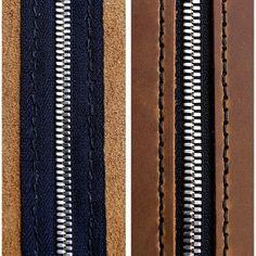 zipper leather stitching