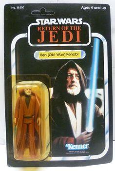 VINTAGE 1984 KENNER Star Wars Return of the Jedi Ben (Obi-Wan) Kenobi Figure MOC #Kenner