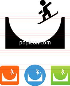 Halfpipe Icon - Illustration from Popicon