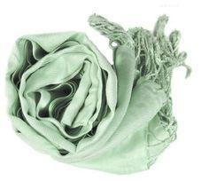 "Soft and Silky Beautiful Viscose Pashmina Water Blue Shawl/ Wrap 28"" X 78"" Peach Couture. $9.95"