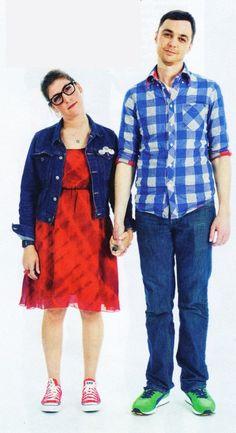 Jim Parsons and Mayim Bialik! Ek! I love The Big Band Theory!