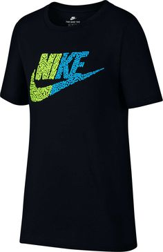 Nike Boys' Sportswear Half Futura Graphic Tee, Black Nike Clothes Mens, Nike T Shirt Mens, Nike Men, Nike Outfits, Cool Outfits, Camisa Nike, Designer Sportswear, Boy Fashion, Shirt Designs