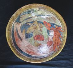 Couple on Horseback - Original Art Bowl