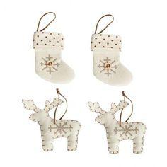Décoration à accrocher en tissu Sarai #Noel #sapin