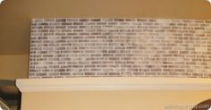 How to paint brick to make it look old and weathered!