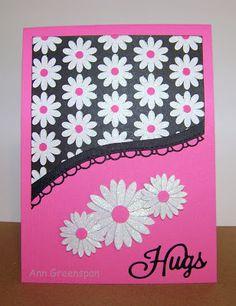 Ann Greenspan's Crafts: Flower Power Hugs (3 cards)
