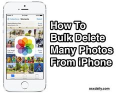 How to remove multiple photos from the iPhone at once