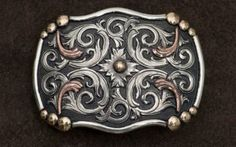 AndWest® Vintage Collection™ Antiqued Silver & Copper Scroll with Gold Beads Buckle   Cavender's