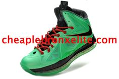 Nike Lebron X PS Black Red New Green 541100 303 Lebron Shoes For Sale 99e39d7a038a