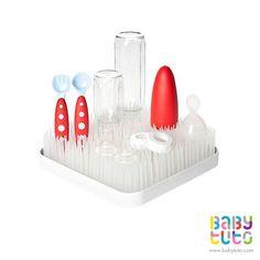 Secador cuadricular de mamaderas y accesorios blanco, $15.990 (precio referencial). Marca Boon: http://bbt.to/1DCs16E