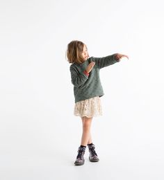 from Zara Kids… gorgeous textures, subtle colors, the boots give it personality!