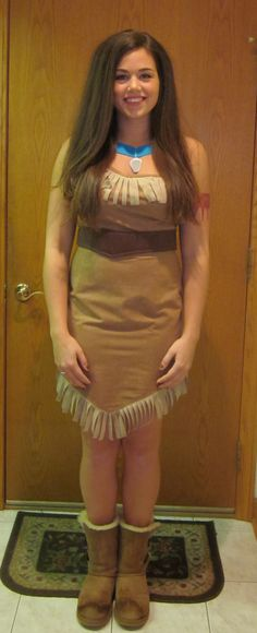 Homemade Pocahontas halloween costume :)