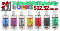 COOL! – Subtank Mini Styled SubOhm Atomizer in COLORS – $12.52