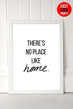 White No Place Like Home by Native State Framed Print