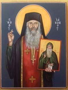 SAINT IAKWBOS TSALIKIS Byzantine Icons, Orthodox Christianity, New Saints, Orthodox Icons, Christian Art, Religious Art, Style Icons, Cathedral, Religion
