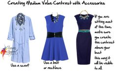 medium value contrast with accessories