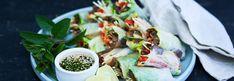 Ferske vårruller med teriyaki-aubergine Fresh Spring Rolls, Fresh Rolls, Fresco, Organic Soup, Recipe Details, Molecular Gastronomy, Soup And Salad, Tasty Dishes, Food Inspiration