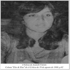 """Jeaneth Falcão. Coluna """"Eles & Elas"""" do A Crítica de 19 de agosto de 1980."""