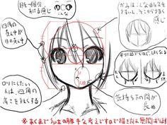 基本的な女の子の顔の描き方 / yo さんのイラスト