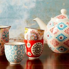 Boho Print Cups - much like Anthropologie