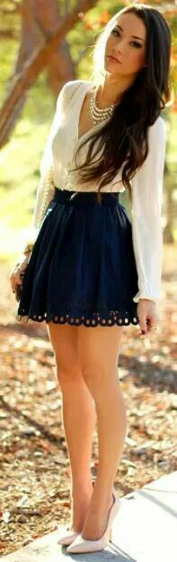Graduation outfit? Minus the heels. I don't feel like falling on stage