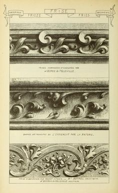 Materials and documents of architecture and sculpture : classified alphabetically Detail Architecture, Historical Architecture, Art Decor, Decoration, Architectural Elements, Architectural Drawings, Carving Designs, 3d Prints, Classical Art