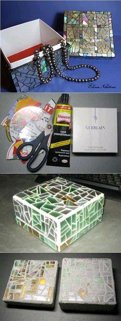 caja decorada con cd