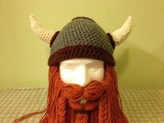 Hey, I found this really awesome Etsy listing at https://www.etsy.com/listing/161526361/fierce-viking-dwarf-helmet-crochet