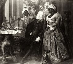 People of Color in European Art History Johann Samuel Mock Lord Jonimo with the Moorish Woman Friederica Poland (before Oil on Canvas, 172 x 198 cm. This painting was catalogue number 462 in the inventory of 1739 of the collection of Augustus II European History, Art History, Today History, History Books, Black History Facts, The Secret History, Black Image, African Diaspora, Historical Images