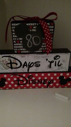 Disney Trip Countdown Ideas