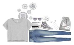 """""""."""" by gilinsky-is-bae ❤ liked on Polyvore featuring WallPops, Wet Seal, Monki, ONLY, Converse, Apt. 9, Merkury Innovations, Prism, H&M and fabulous"""