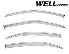 WELLVISORS Side Window Visors Chrome Trim For Nissan Maxima Sedan 2000-2003