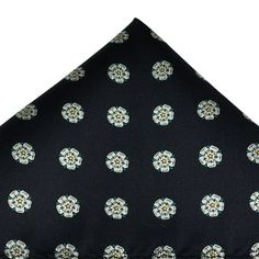 b529a6143509 Yorkshire Rose Navy Luxury Silk Pocket Square Handkerchief from Ties Planet  UK