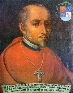 Retrato del Francisco Marroquín, primer obispo de Guatemala, uno de los padres fundadores de la nación.
