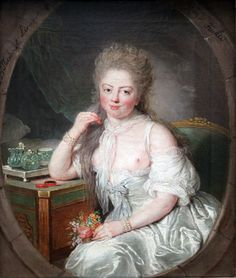 Young woman in a risque negligee, by Anna Dorothea Therbusch. This painting makes it plain that the sitter was most likely a courtesan or a woman who was not a member of 'polite' society. Anna, 18th Century Dress, 17th Century, Fat Women, Woman Painting, Erotica, Artsy Fartsy, American History, The Past