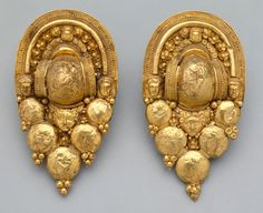 Etruscan: Pair of gold earrings. c.4th CT BC. Courtesy Dallas Museum of Art