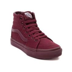 All burgundy high tops vans #vans