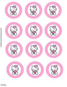 Hello kitty on pinterest hello kitty centerpieces hello for Hello kitty cupcake topper template