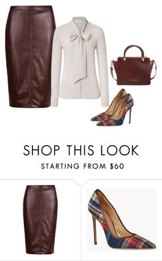 """""""Leathered!"""" by lollahs ❤ liked on Polyvore featuring Pussycat and Ted Baker"""