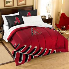 Arizona Diamondbacks MLB Embroidered Comforter Twin-Full (Contrast Series) (64 x 86)