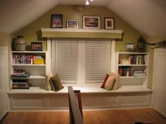 If our house is only 1-1/2 stories, we could finish the attic like this.. nice and cozy. :)