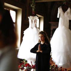 "Elisa Mocci Events Academy Wake up this morning in a ""Winter Bridal Dream"". Dreass @alessandroangelozzicouture  Ph. @morlottistudio  Venue @hotelcolumbusroma  #elisamoccieventsacademy  #luxuryweddings #destinationweddingitaly"